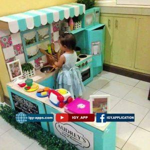 بالصور فكرة عمل مطبخ كامل للأطفال 👧