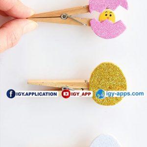 طريقة صنع بيضة جميله يخرج منها الصوص 👍
