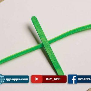 طريقة صنع تمساح من عصا الآيس كريم